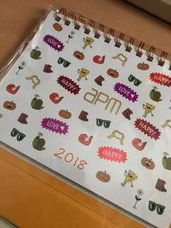 APM 座枱月曆2018