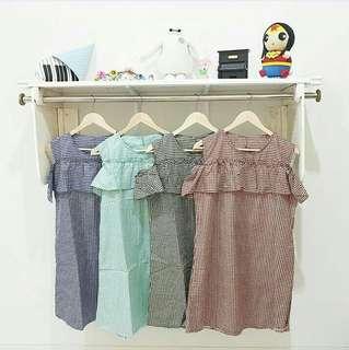 TARTAN DRESS [MUAT SAMPAI XL]