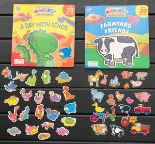 Magnetic books - Dinosaurs and Farm Animals