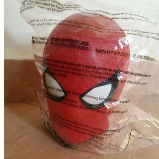 Spiderman figurine cup cover with straw holder
