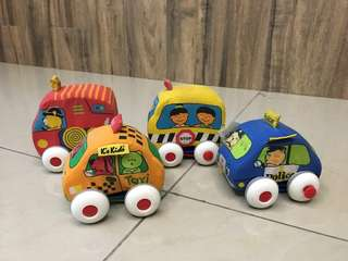 Pull back fabric toy cars