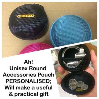 Multipurpose Accessories Pouch Personalised, makes practical & useful gift [coin earphones cables nick-knack unisex gift pouch box; uncle anthony] FOR MORE PICS & DETAILS, 👉 http://carousell.com/p/163593545