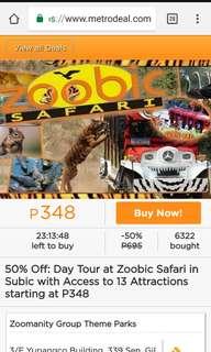 (URGENT) ZOOBIC SAFARI DAY TOUR FOR 3