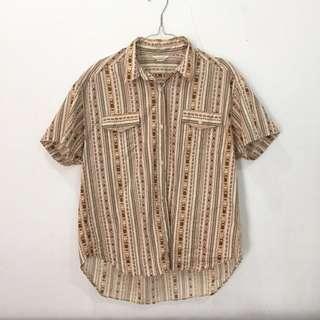 Kemeja vintage aztec shirt unisex