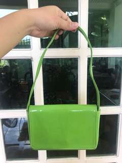 Customized Eccentric Bag in Apple Green for Neon parties