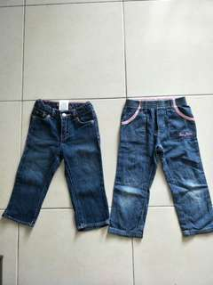 Jeans baby kiko and levi's 2-3 years old