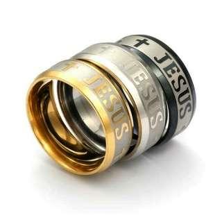 JESUS Titanium Ring