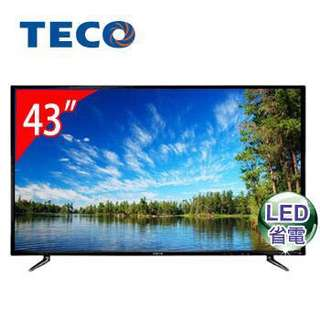 TECO 東元 高畫質 43吋 液晶顯示器 TL43K1TRE