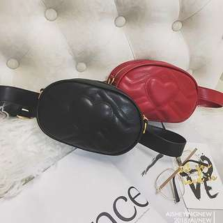 Tas Selempang Love Sling Crossbody Waist Bag Fashion Wanita Impor Code 3173