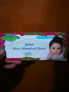 Nailandia gift card worth ₱500