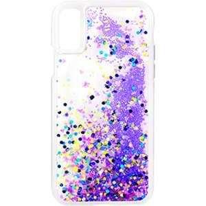 iPhone X Case-GLOW WATERFALL-Glow in The Dark Liquid Glitter