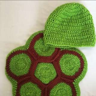 Baby crochet turtle costume