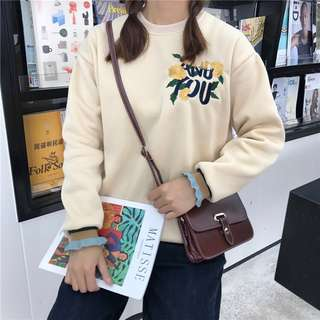 (PO) Korean Embroidery Floral Sweater