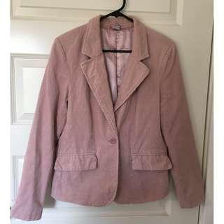 Blush Pink Size 10 Corduroy Blazer Jacket/Coat from Target