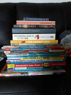 Multiple assessment books and novels for sale