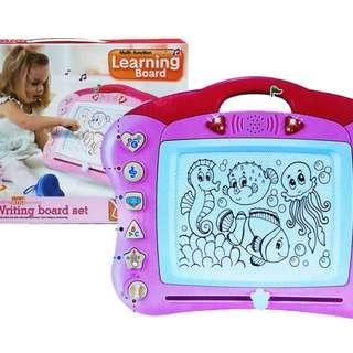 Mainan Edukasi Anak MULTI FUNCTION LEARNING BOARD PINK - 666A
