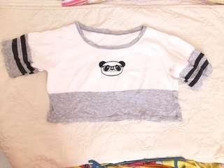 Panda shirt w/o inner sando