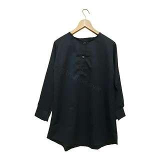 tunic/ baju muslim/ blouse in navy