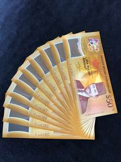 CIA Brunei $50 Commemorative With 20 Run