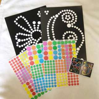 ✔️Montessori sticker dot art