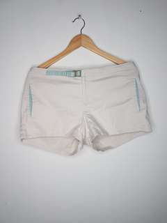White Khaki Short Shorts Size13