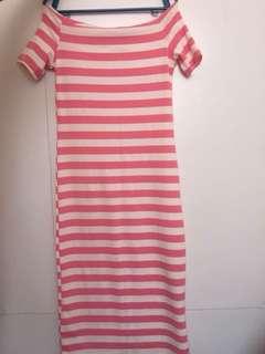 Stripes Stretchable Dress (P250 each)