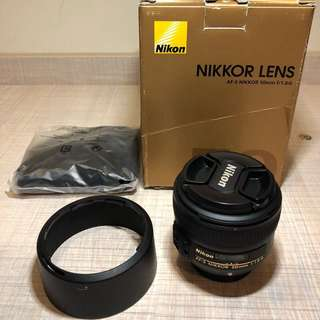 🚚 Lens nikon 50mm f1.8