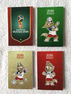 FIFA 2018 Russia World Cup - Set of 4 notepads