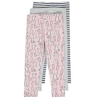 GEORGE Bunnies Leggings 3 Pack