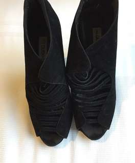 Cute soft black high heels