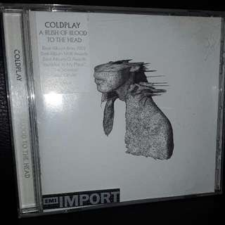 coldplay cd a rush of blood to the head , import emi