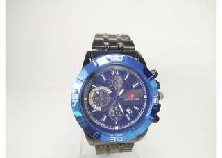 Jam tangan swiss timeblack blue