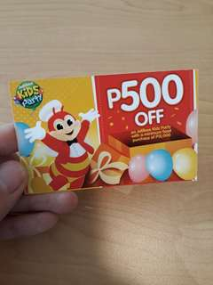 P500 OFF on Jollibee Kids Party