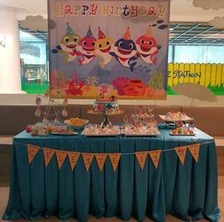 Baby Shark Birthday Backdrop (For Rent)