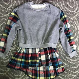 Sweater flannel top