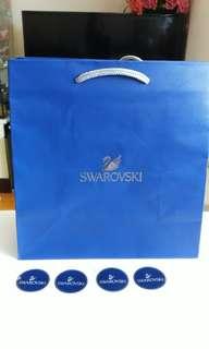 Swarovski paper bag  with 4 stickers