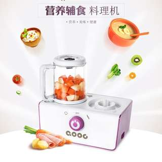 QOOC baby food  machine grinder multi-function steam mixing 2in1