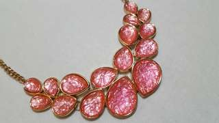 F21 Pink faux statement necklace