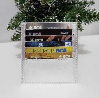 Card holder 12 slot silver