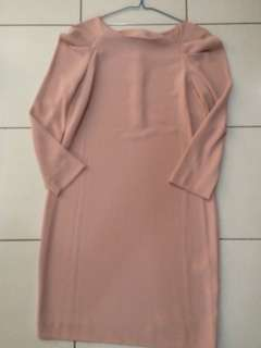 Zara Woman nude pink dress