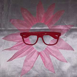 Red Frame Without Lenses