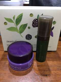 Innisfree - Green tea seed serum & orchid enriched cream
