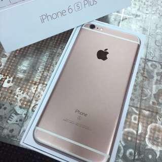 Apple iPhone 6s Plus 64G 95新 玫瑰金 盒裝全新配件加送i線套透明殼買到賺到