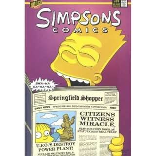 Simpsons Comics #19 (April 1996) - Don't Cry For Me, Jebediah! (Bart makes the statue of Jebediah cry)