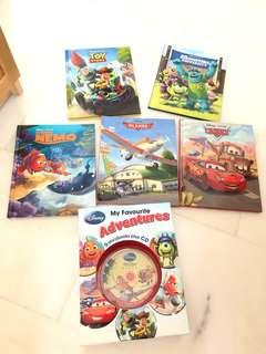 BN Disney Pixar 5 storybooks with CD!