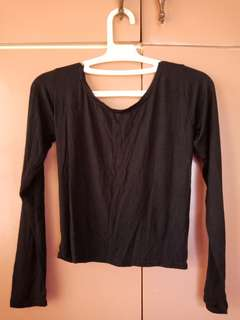 Slightly cropped long sleeve with open bsck