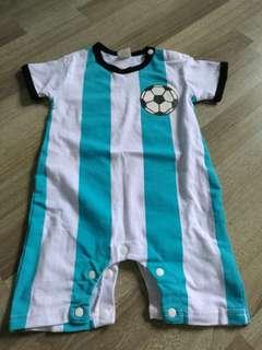 Baby Boy Romper (Football theme)