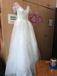 Wedding Gown off shoulder