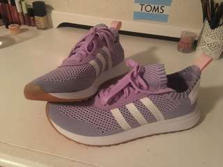 Purple Adidas FLB Runners Prime Knit Shoes