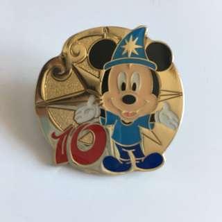 米奇pin 東京迪士尼十週年襟章